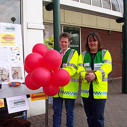 First Responder Fundraising at Budgens 2002